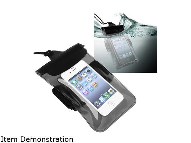 Insten Clear Black Waterproof Bag Case Compatible with Samsung Galaxy Note 3 N9000 1458098