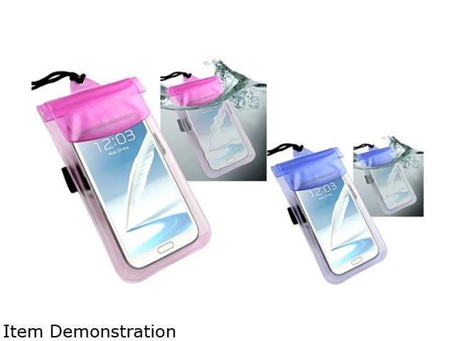 Insten 2 packs of PVC Waterproof bag Cases : Blue / Hot Pink 1572672