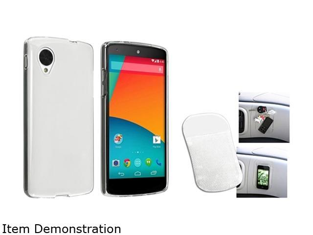 Insten Clear TPU Case and Magic Sticky Anti-Slip Mat Compatible with LG Nexus 5 E980 1593990