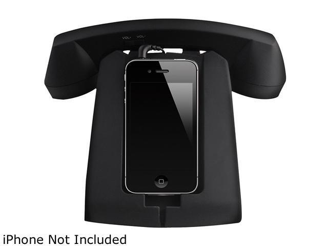 Hype Black Rotary-Style Retro Handset iPhone Docking Station HY-833