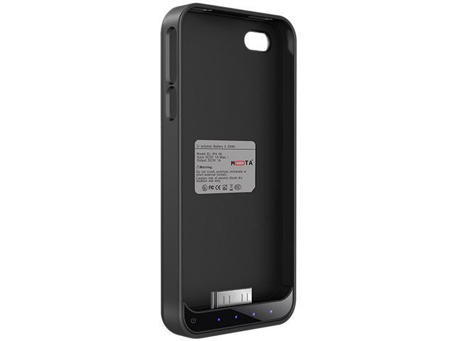 Mota Black Protective Battery Case for iPhone 4/4S AP4-15CK