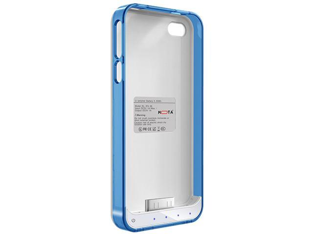 Mota Blue and White Protective Battery Case for iPhone 4/4S AP4-15CB