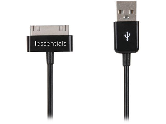 DigiPower IPL-DC-USB Black Charge & Sync Data Cable For Apple iPod, iPhone, & iPAD