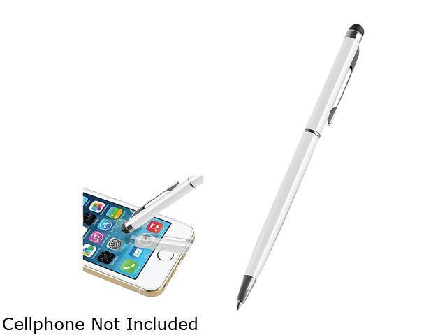 Insten White 2-in-1 Capacitive Touch Screen Stylus Ballpoint Pen 2029336