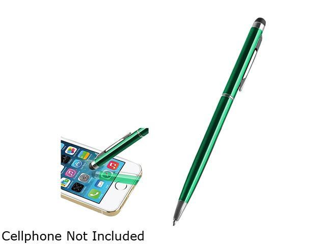 Insten Dark Green 2-in-1 Capacitive Touch Screen Stylus Ballpoint Pen 2029338