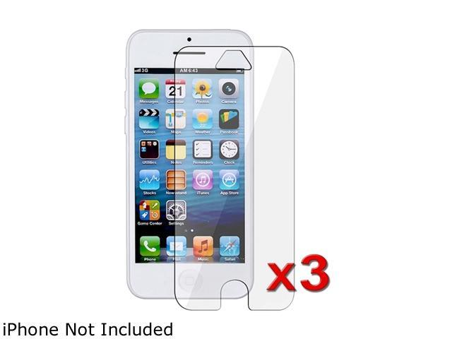 Insten Transparent 3-Pack Clear LCD Screen Protector for Apple iPhone 5 / 5C / 5S 1306637
