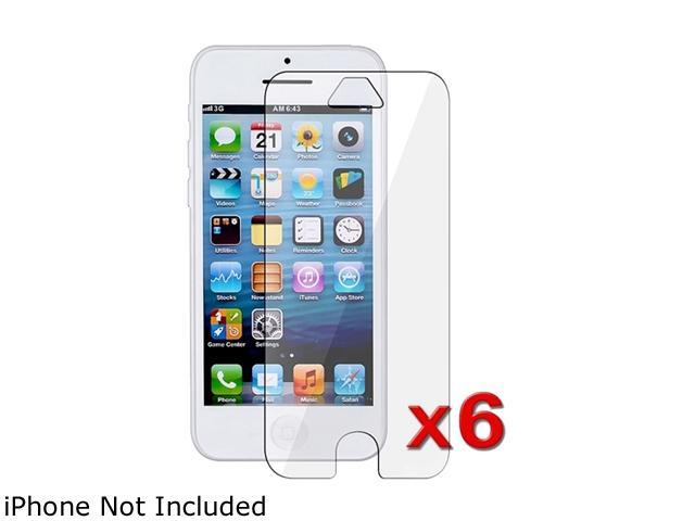 Insten Transparent 6-Pack Clear LCD Screen Protector for Apple iPhone 5 / 5C / 5S 1306639