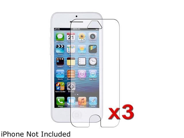 Insten Transparent 3-Pack Anti-Glare LCD Screen Protector compatible with Apple iPhone 5C 1306641