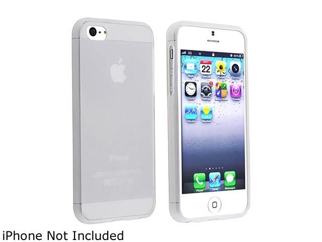 Insten Frost White TPU Case + White Stylus Pen compatible with Apple iPhone 5 1299714