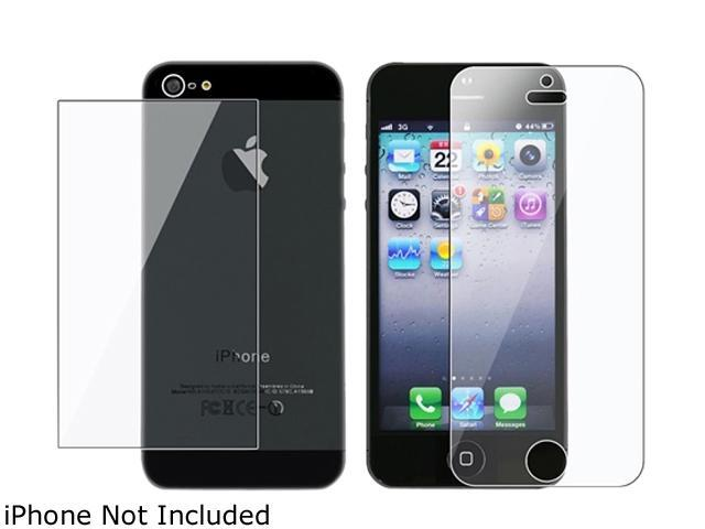 Insten Transparent 2 Pieces Reusable Screen Protector Compatible with Apple iPhone 5S 1401146