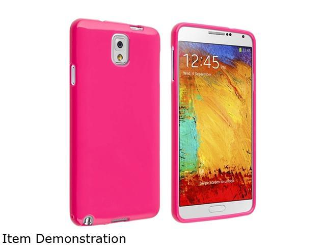 Insten Hot Pink Jelly TPU Rubber Case for Samsung Galaxy Note III Note3 N9000 1406169