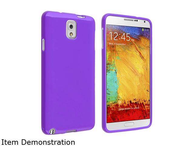 Insten Purple Jelly TPU Rubber Case for Samsung Galaxy Note III Note3 N9000 1406170