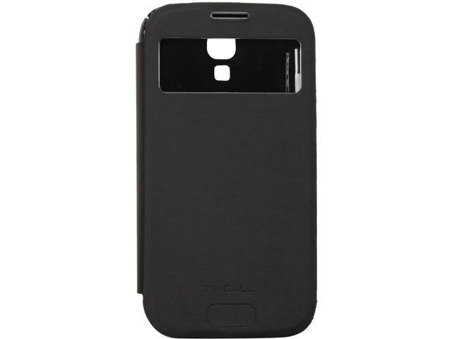 macally Black Flip Cover View Case for GalaxyS4 VIEWCOVERS4