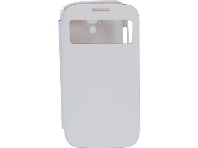 Macally White Flip Cover View Case for GalaxyS4 VIEWCOVERS4W