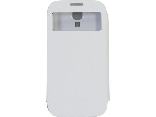 macally White Protective Wallet Case for Galaxy S4 WALLETS4W