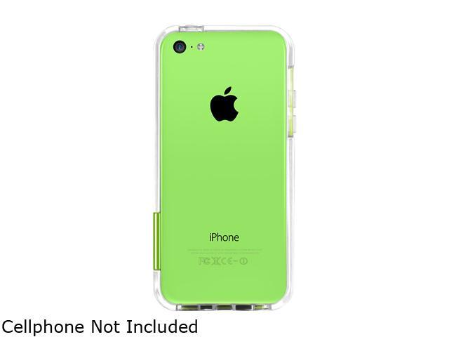 macally Clear Protective Frame Case With 5 Different Color Clip For iPhone5C PCRimP6-C