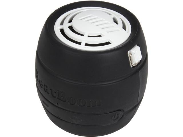 BeatBoom BB3000-BW Black/White Portable Wireless Bluetooth Speaker with Built in Speakerphone