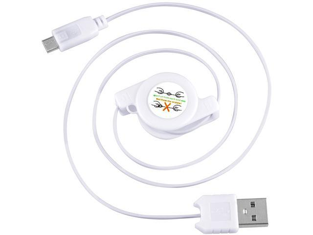 Insten 1830373 White Retractable Cables