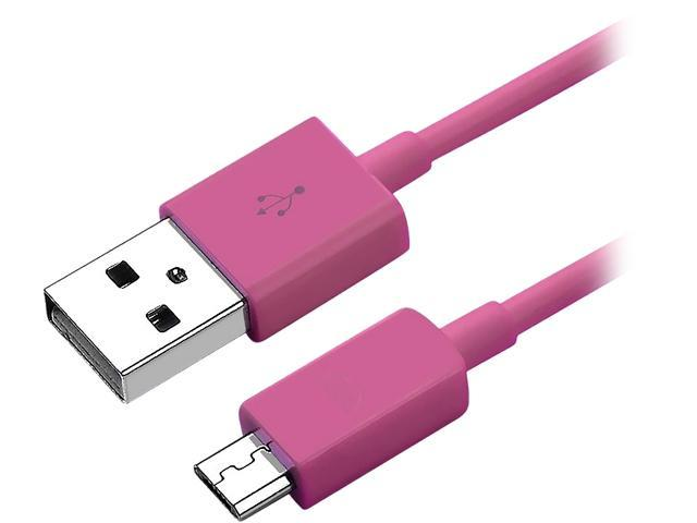 Insten 1856741 Pink Micro USB [2-in-1] Cable For Samsung Galaxy Tab 4 7.0 / 8.0 / 10.1