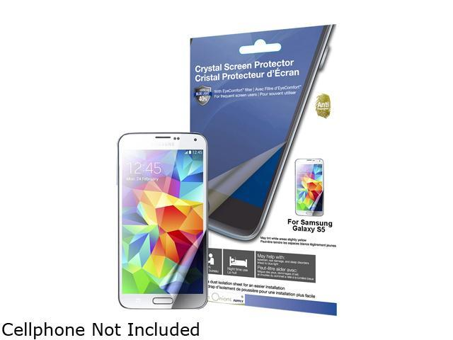 Green Onions Supply Crystal Screen Protector with EyeComfort(tm) filter for Samsung Galaxy S5 (2-pack) RT-SPSGS501AFB