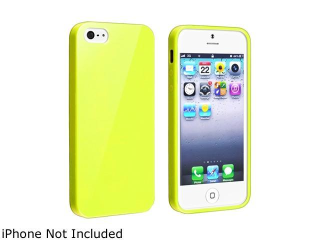 Insten TPU Rubber Case Cover Compatible With Apple iPhone 5 / 5S, Yellow Jelly