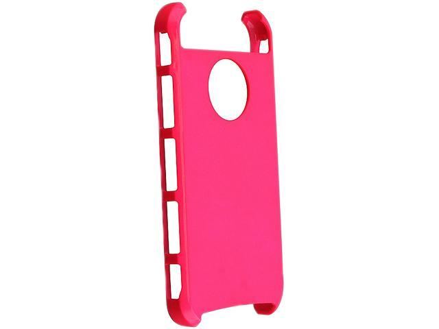 Insten Hybrid Case Compatible with Apple iPhone 5 / 5S, White TPU/ Hot Pink Hard