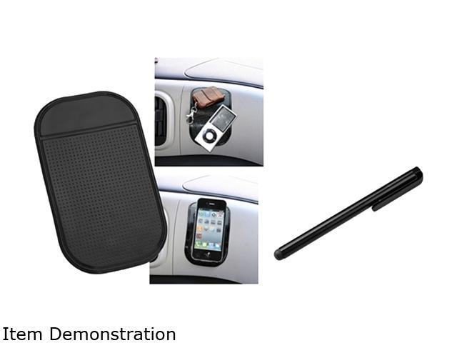 Insten Black Sticky Mount Mat + Black Stylus Compatible with Samsung Galaxy i9300 S4 i9500 i8190 N7100