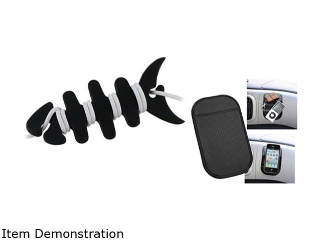 Insten Black Sticky Mount Mat + Fishbone Wrap Compatible with Samsung Galaxy SIII i9300 S4 i9500 N7100