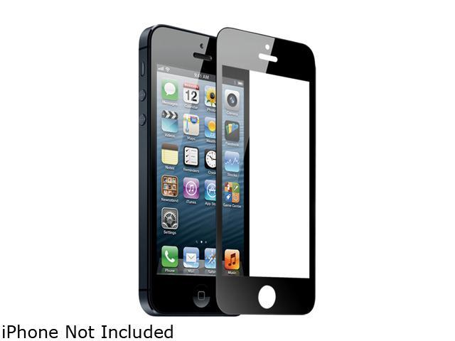 TekNmotion Black Real Glass Screen Shield for iPhone 5 / 5S TM-GSP5B