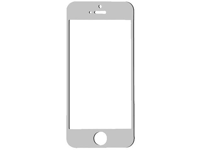 TekNmotion Silver Real Glass Screen Shield for iPhone 5 & 5S 4DIS14149