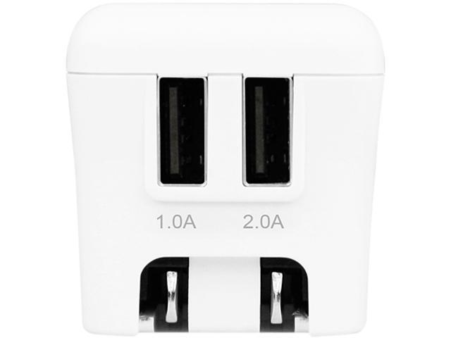 Macally Home15U White 15W Two USB Ports Wall Charger