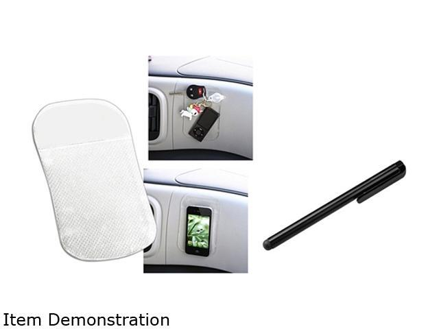 Insten Clear Sticky Phone Mount Mat + Black Stylus Compatible with Samsung Galaxy S3 i9300 S4 i9500
