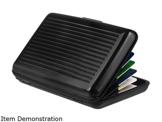 Insten 823709 Uninversal Business cards / Credit cards / ID Card Case, Black Aluminum