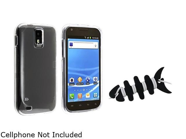 Insten Black Headset Smart Wrap+Clear Snap-on Crystal Case Compatible With Samsung Galaxy SII / S2 Hercules SGH-T989 (T-Mobile)