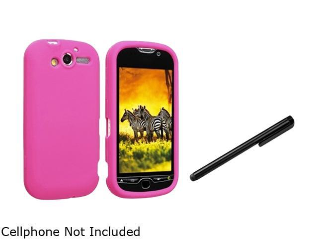 Insten Hot Pink Silicone Skin Case+Black Universal Touch Screen Stylus Compatible With HTC myTouch 4G T-Mobile myTouch 4G