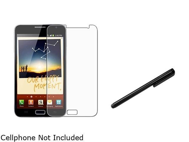 Insten Reusable Anti-Glare Screen Protector +Black Universal Touch Screen Stylus Compatible With Samsung Galaxy Note N7000