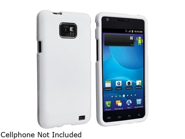 Insten 2X White Snap-on Rubber Coated Case Compatible With Samsung Galaxy SII / S2 GT-i9100/ S2 i777 (AT&T)