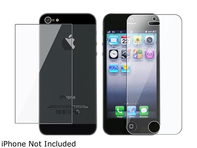 Insten 2x Reusable Front & Back Screen Protector Compatible with Apple iPhone 5 / 5S 804637