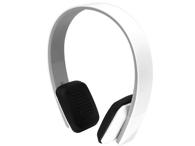 Aluratek White ABH04F Bluetooth Wireless Headphones
