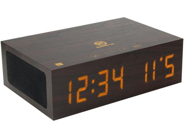 nfc alarm clock speaker system with usb charging and led. Black Bedroom Furniture Sets. Home Design Ideas