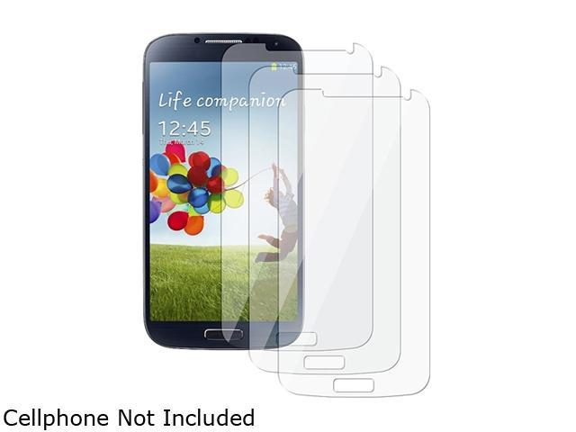 Insten 3-Pack Reusable Clear Screen Protector Shield Compatible with Samsung Galaxy S4 / SIV i9500