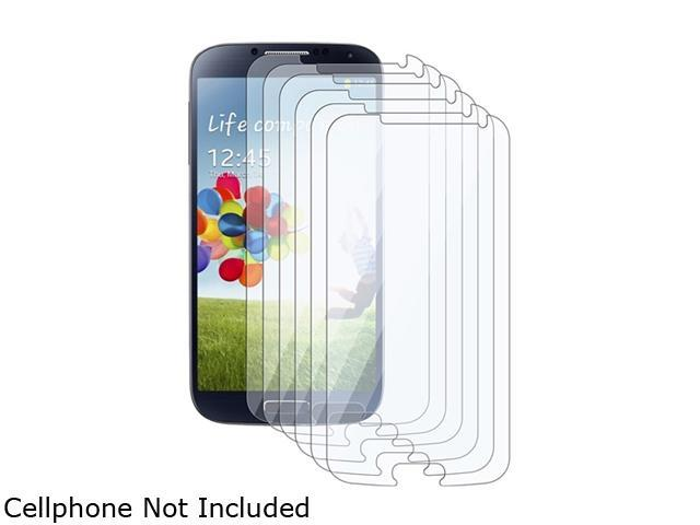 Insten 6-Pack Reusable Clear Screen Protector Shield Compatible with Samsung Galaxy S4 / SIV i9500