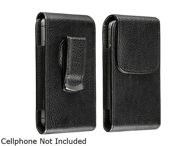 Insten Leather Phone Case with Magnetic Flap compatible with Samsung Galaxy S4 / SIV / i9500, Black