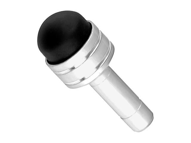 Insten 3.5-mm Headset Dust Cap with Mini Touch Screen Stylus compatible with Samsung Galaxy S4 / SIV / i9500, Silver