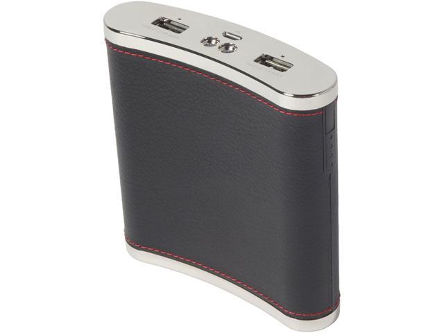PC Treasures PowerFlask Black 13000mAh PowerFlask Portable Power Bank for Mobile Charging 08650