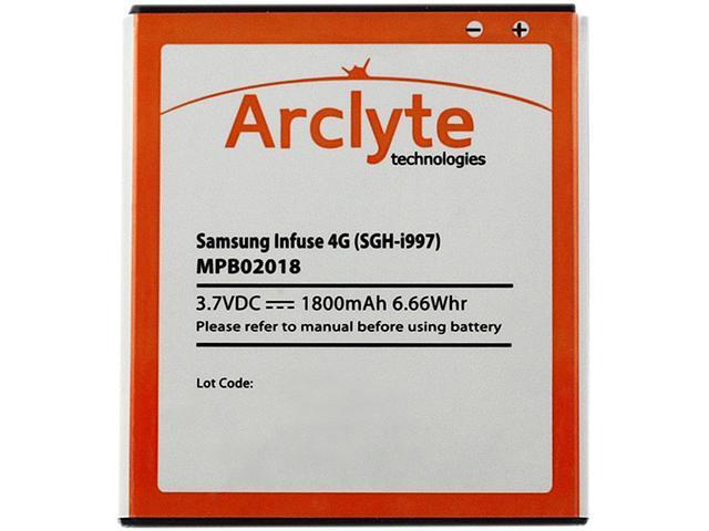 Arclyte - MPB02018 - Cell Phone Battery - Samsung Infuse 4G (EB555157VA)