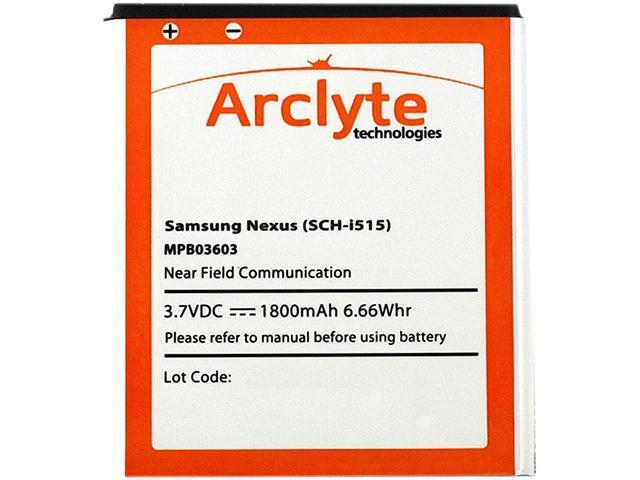Arclyte - MPB03603 - Cell Phone Battery - Samsung Galaxy Nexus i515 (EB-L1D7IVZBSTD) with NFC