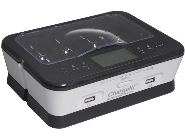 PC Treasures White ChargeIt Battery Station 08768