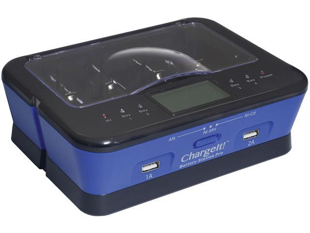 PC Treasures Blue ChargeIt Battery Station 08770