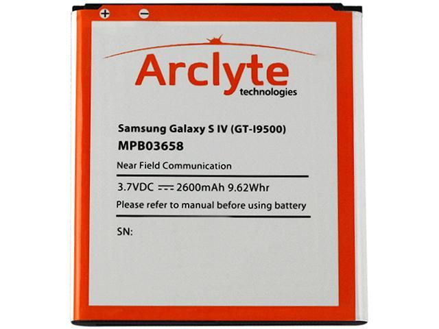 Arclyte Black 2600 mAh Cell Phone Battery MPB03658